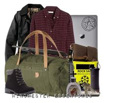 """Winchester Essentials -- Supernatural"" by evil-laugh ❤ liked on Polyvore featuring Barbour, Étoile Isabel Marant, Fjällräven, Rustico, HUF, Avon and Carrini"
