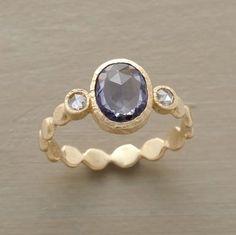 Saphire and Diamond Ring - Sundance Catalog