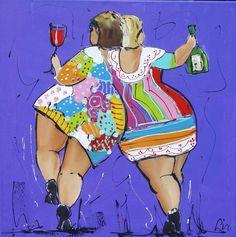 Drunk - www.vrolijkschilderij.nl