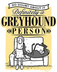 Gotta love greyhounds!