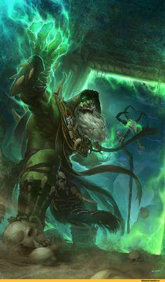 Gul'dan,Warcraft,Blizzard,Blizzard Entertainment,фэндомы,DSL ART,World of Warcraft,Warcraft art