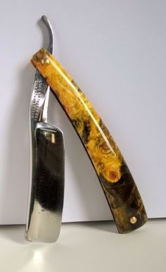 Stunning!!! Wade & Butcher 8/8 For Barber's Only in buckeye burl. Beautiful…
