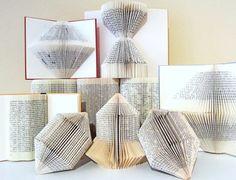 Do book origami. Altered Books, Altered Art, Old Book Crafts, Geometric Sculpture, Book Folding Patterns, Folded Book Art, Book Sculpture, Elementary Art, Book Making