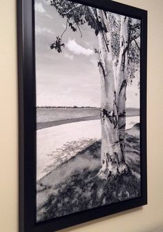 Large Black and White Birch Tree Painting - One of a Kind