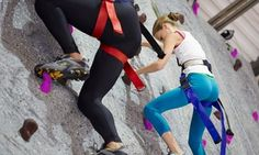 Groupon - Intro to Indoor Rock Climbing Class for One, Two, or Four at Sender…