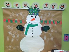 Our winter themed bulletin board!