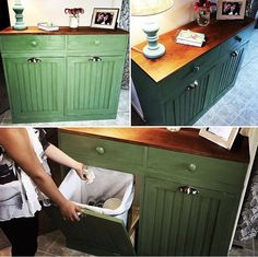 Ana White | Double trash bin with drawers - DIY Projects