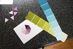 Card made with paint sample cards!  love it!