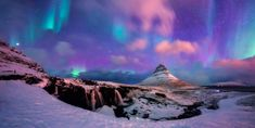 View top-quality stock photos of Panoramic View Of Kirkjufell Mountain With Aurora. Find premium, high-resolution stock photography at Getty Images. Aurora Borealis, Cave City, Pictures Of Beautiful Places, Unique Vacations, Winter Vacations, See The Northern Lights, Europe Destinations, Iceland Travel, Beautiful Sky