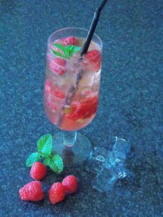 raspberry cooler from www.myfoodlove.com Raspberry, Alcoholic Drinks, Glass, Recipes, Food, Liquor Drinks, Alcoholic Beverages, Drinkware, Rezepte