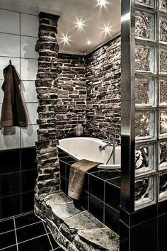Gorgeous stone bathroom