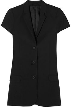 Shop Totême Lausanne Wool-blend Crepe Blazer in Black at Modalist Designer Clothes Sale, Discount Designer Clothes, Winter Fashion 2016, Tailored Shorts, Black Wool, Wool Blend, Hooded Jacket, Fashion Online, Lausanne