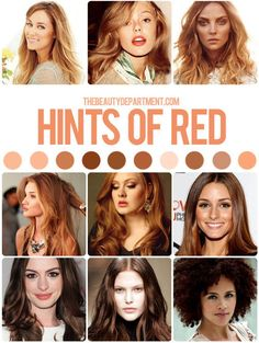 """Contrary to popular belief, reds are actually GREAT for those with pink/redness to their skin. Red tones in the hair will often """"upstage"""" th..."""