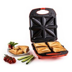 Sandwich Maker Toaster Waffle Iron Grill Panini Toastie Professional for sale online Sandwich Toaster, Grill Sandwich Maker, Grill Panini, Panini Maker, Sandwich Bar, Bbq Hot Plate, Best Waffle Maker, Microwave Grill, Delicious Sandwiches
