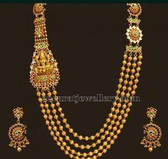 Jewellery Designs: Kundan Lakshmi Long Set 180gms