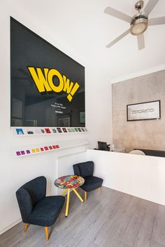 This Office Is Filled With Graphics And Artwork Inspired By Pop Culture