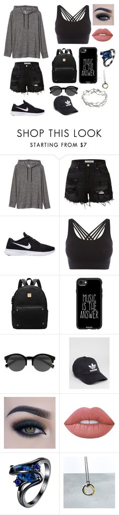 """""""Easy and simple creation"""" by bethm2109 on Polyvore featuring Gap, LE3NO, NIKE, Pepper & Mayne, Casetify, EyeBuyDirect.com, adidas, Too Faced Cosmetics, Lime Crime and Tiffany & Co."""