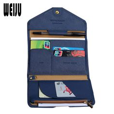 WEIJU Women Travel Passport Cover PU Leather Business Card Holder Purse Passport Holder Men's Document Organizer Bag #Affiliate