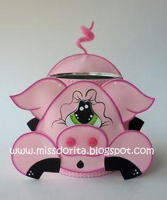 fun foam pig treat jar