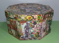 Paper Mache Boxes, Garden Theme, Bridal Gifts, Surprise Gifts, Wedding Anniversary Gifts, Box Art, Box Design, Cute Gifts, Crafts To Make