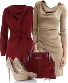 """""""Tan Dress"""" by styleofe on Polyvore 