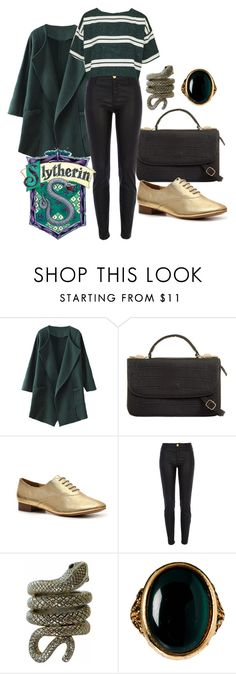 """""""Slytherin"""" by meredithwelch ❤ liked on Polyvore featuring Envy, River Island, CO, Rock 'N Rose, Topshop, harrypotter and slytherin"""