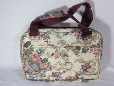 Cosmetic Carry On Travel Bag Floral Tapestry Freedom Bag 3000 w/ Companion Piece #FreedomBag