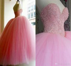 2017 Quinceanera Dresses Baby Pink Ball Gowns Sweetheart Open Back Hot Sell Sweet 16 Prom Dresses Major Beaded Debutantes Prom Party Gowns Quinceanera Dresses Plus Size Prom Dresses Online with $150.0/Piece on Sweet-life's Store | DHgate.com