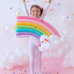 Did you think I would forget a rainbow? 🌈😍 This costume would definitely brighten up anyone's day! Have a happy Friday 💗🧡💛💚💙💜… Creative Halloween Costumes, Halloween Kids, Halloween Ghosts, Halloween Makeup, Halloween Face, Rainbow Costumes, World Book Day Costumes, Birthday Centerpieces, Diy Backdrop