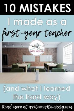 10 mistakes I made as a first-year teacher, what I learned my first year of teaching, and how I've grown as a teacher since then. 1st Year Teachers, First Year Teaching, Middle School Teachers, Student Teaching, Elementary Teacher, Teaching Tips, College Teaching, English Teacher Classroom, Teachers College
