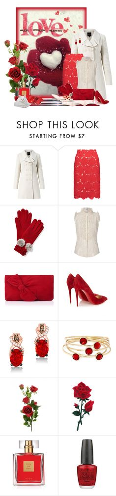 """Winter Love"" by kginger ❤ liked on Polyvore featuring Alice + Olivia, L'Wren Scott, L.K.Bennett, Christian Louboutin, LeVian, Liz Claiborne, Avon and OPI"