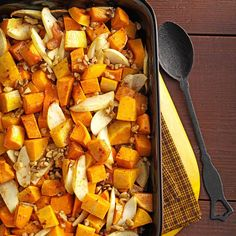 Harvest Squash Medley Recipe -To me, cooking is an art, and I love trying new recipes. This one dresses up baked butternut squash, sweet potatoes and apples with citrus and spices. &dmash;Ruth Cowley, Pipe Creek, Texas