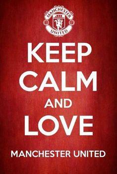 Keep calm. Manchester United. #mufc