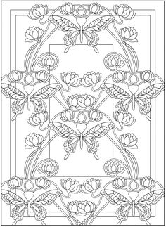 Butterflies coloring page Dover Publications