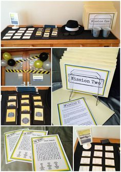 Last year we threw a Spy themed party for our middle daughter when she turned We invited both boys and girls and it was a big hit with everyone! I tried to tie in the games with the theme, as we… Geheimagenten Party, Spy Kids Party, Spy Birthday Parties, Clue Party, Birthday Fun, Secret Agent Games, Secret Agent Party, Secret Party, Secret Game