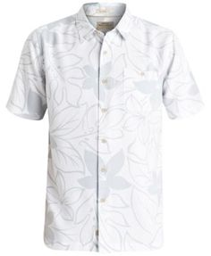 Quiksilver Waterman Men's Encinitas Floral-Print Short-Sleeve Shirt