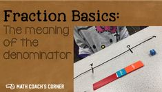 Combine a math game with math talk to help students understand the meaning of the denominator 3rd Grade Fractions, Teaching Fractions, 3rd Grade Math, Teaching Math, Math Fractions, Maths, Grade 2, Multiplication, Third Grade