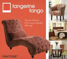 """The 2011 color of the year, PANTONE 18-2120 Honeysuckle, encouraged us to face everyday troubles with verve and vigor. Tangerine Tango, a spirited reddish orange, continues to provide the energy boost we need to recharge and move forward."""