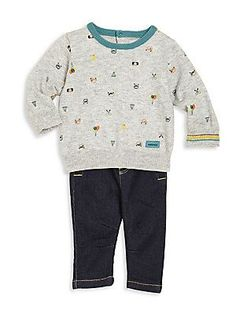 Catimini Baby's & Toddler's Two-Piece Sweater & Jeans Set