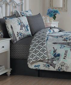 Love this Blue Cheri Eight-Piece Comforter Set on #zulily! #zulilyfinds