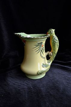 Earnest Burleigh Lovely Ironstone Vase With Lid From Staffordshire