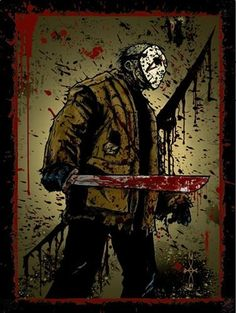 Jason Voorhes, a kid with special needs who was picked on by the kids who attended Camp Crystal Lake; the kids weren't watching and he drowned which caused his mom to go on a homicidal rampage.  Or did he die?  He covered his deformed face with a sack before finding the hockey mask.  And of course, ignore the movies where he came back to life over and over.  Except for the one he came out of the lake.