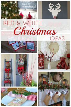 Red and White Christmas Ideas (Link Party Features)   LOVE