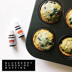 blueberry sunshine muffins