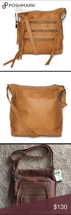 "‼️1 HR SALE‼️Lucky Brand Shannon Crossbody 🍀 🍀Lucky Brand Shannon Crossbody/Shoulder Bag, Style Model LB1611, Color Brandy, 💯Genuine Leather, super soft leather with pockets inside and several useful compartments for cell and other accessories , straps are adjustable, measures 11"" x 12.5"" x 3"" Brand New with Tags 🚫SMOKE FREE🚫NO TRADES // BUNDLE & SAVE 🎁🛍 Lucky Brand Bags Crossbody Bags"