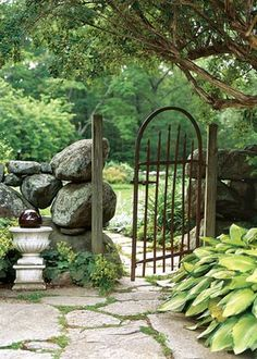 Stacked Rock Garden Gate