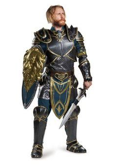What a gorgeous costume! Lothar Prestige Adult Costume - $199.99- for men - makes perfect cosplay World of Warcraft Costume! - #CosplayWorldWarcraftCostume - #WarcraftTheBeginningCostumes