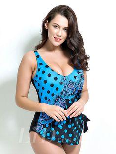 Print Plus Size One-Piece Swimwear Lidyy1605201032