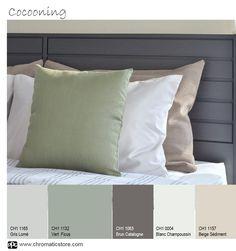 Unique Design Trends For Summer Interior Rendering, Interior Design, Palette Verte, Color Balance, Rustic Design, Living Room Interior, House Colors, Design Trends, Bed Pillows