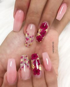 Nail Designs nail designs for fall nail designs for summer gel nail designs - Pink Acrylic Nails, Acrylic Nail Designs, Nail Art Designs, Pink Blue Nails, Flower Nail Designs, Milky Nails, Fire Nails, Dream Nails, Nagel Gel